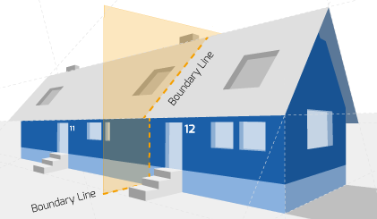 Party Wall illustration for Tottenham Surveyors